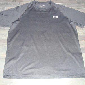 MENS UNDER ARMOUR BLACK ATHLETIC LOOSE SHIRT